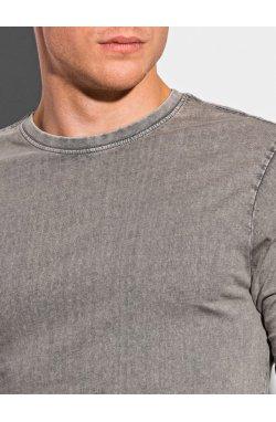 Мужской лонгсливер без принта L131 - светло-коричневый - Ombre