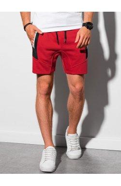 Мужские шорты короткие спортивные W240 - красный - Ombre