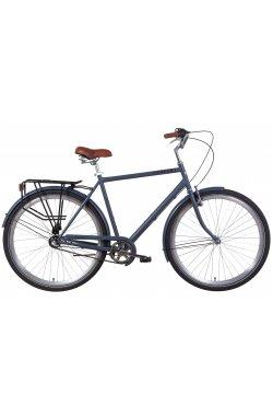 """Городской Велосипед Велосипед 28"""" Dorozhnik COMFORT MALE планет. 2021 (черный)"""
