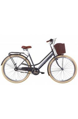 """Городской Велосипед Велосипед 28"""" Dorozhnik COMFORT FEMALE планет. 2021 (антрацитовый (м))"""