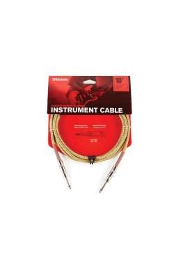 Кабель D'ADDARIO PW-BG-10TW Custom Series Braided Instrument Cable - Tweed (3m)