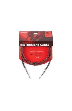 Кабель D'ADDARIO PW-BG-10RD Custom Series Braided Instrument Cable - Red (3m)