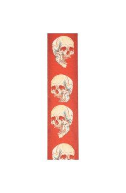 Ремень гитарный D'ADDARIO 50ALP08 ALCHEMY PLANET LOCK GUITAR STRAP - Live Life Skull