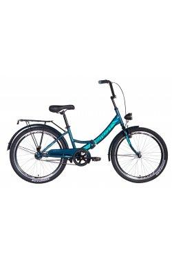 """Городской; Складные Велосипед Велосипед 24"""" Formula SMART с фонарём 2021 (малахитовый)"""