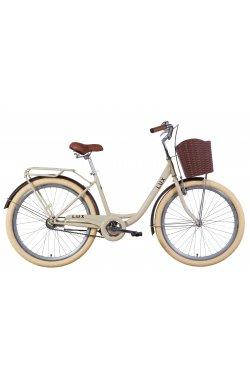 """Городской Велосипед Велосипед 26"""" Dorozhnik LUX 2021 (бежевый)"""