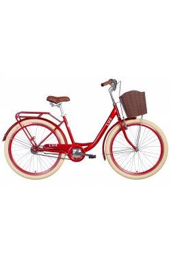 """Городской Велосипед Велосипед 26"""" Dorozhnik LUX 2021 (рубиновый)"""