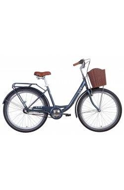 """Городской Велосипед Велосипед 26"""" Dorozhnik LUX планет. 2021 (синий)"""