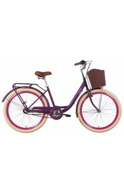"""Городской Велосипед Велосипед 26"""" Dorozhnik LUX планет. 2021 (сливовый (м))"""