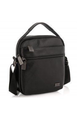 Мужская сумка через плечо натуральная кожа Ricardo Pruno RP23-6013A - натуральная кожа, черный