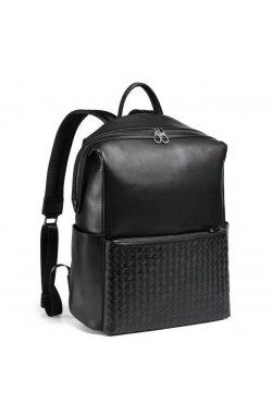 Стильный кожаный мужской рюкзак Tiding Bag B3-157A - натуральная кожа, черный