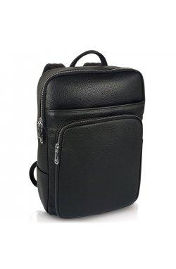 Мужской кожаный рюкзак черного цвета Tiding Bag N2-191116-3A - натуральная кожа, черный