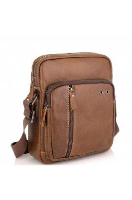 Мужская сумка через плечо из натуральной кожи светло коричневая Tiding Bag N2-9003B, светло-коричневый