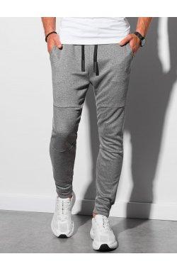 Мужские спортивные штаны P961 - чёрный меланж - Ombre