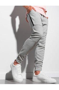 Мужские спортивные штаны P961 - серый меланж - Ombre