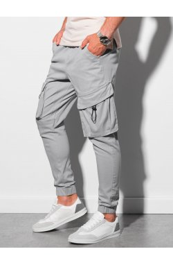 Мужские брюки джоггеры P1026 - серый - Ombre
