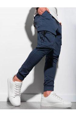 Мужские штаны-джоггеры P1026 - синий - Ombre