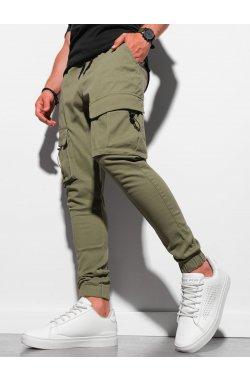 Мужские штаны-джоггеры P1026 - оливковый - Ombre