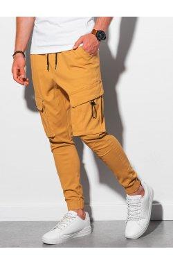 Мужские штаны-джоггеры P1026 - горчичный - Ombre