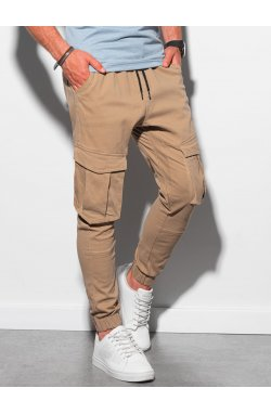 Мужские штаны-джоггеры P886 - карамельный - Ombre