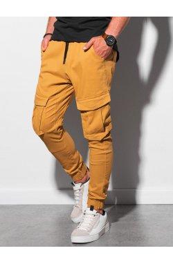 Мужские штаны-джоггеры P886 - горчичный - Ombre