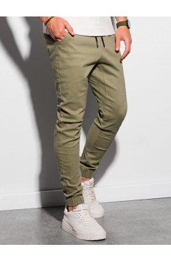 Мужские штаны-джоггеры P885 - оливковый - Ombre