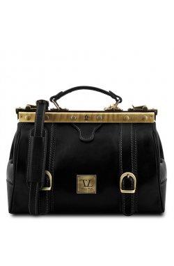 Кожаная сумка-саквояж Tuscany Leather MONA-LISA TL10034 (Черный) Черный