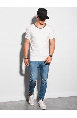 Мужская футболка с принтом S1385 - белый - Ombre