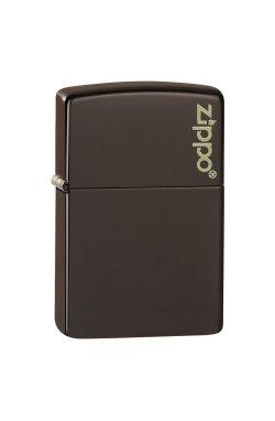 Зажигалка Zippo Classics Brown Matte Zippo Logo Zp49180zl