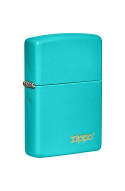 Зажигалка Zippo Classics Flat Turquoise Zippo Logo Zp49454zl