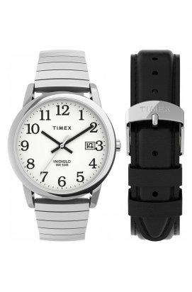 Мужские часы Timex EASY READER Txg025400, Циферблат - Белый, Корпус - Сталь, США