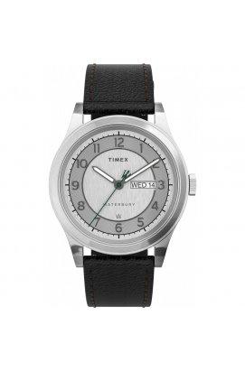 Чоловічі годинники Timex WATERBURY Tx2u90200, Циферблат - Сріблястий, Корпус - Сталь, США