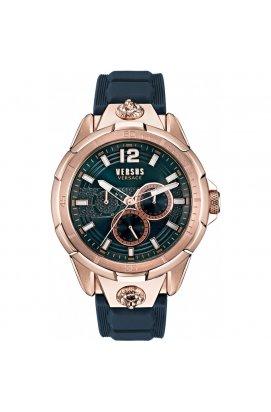 Мужские наручные часы Versus RUNYON Vsp1l0321, Циферблат - Синий, Корпус - Розовая позолота, Италия