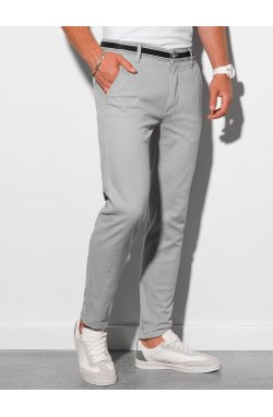 Брюки мужские чинос P156 - светло-серый - Ombre
