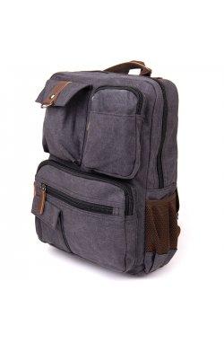 Рюкзак текстильный дорожный унисекс Vintage 20617 Графит