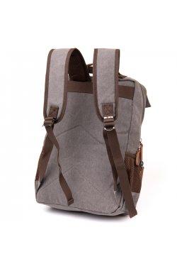 Рюкзак текстильный дорожный унисекс Vintage 20618 Серый
