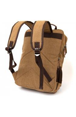 Рюкзак текстильный дорожный унисекс на два отделения Vintage 20614 Песочный