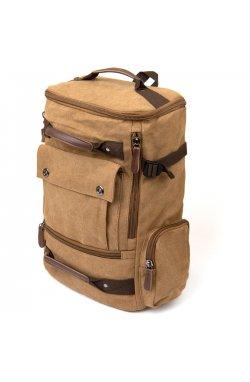 Рюкзак текстильный дорожный унисекс с ручками Vintage 20664 Песочный