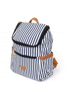 Рюкзак текстильный женский в полоску Vintage 20668 Белый