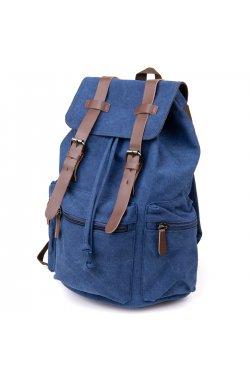 Рюкзак туристический текстильный унисекс Vintage 20609 Синий