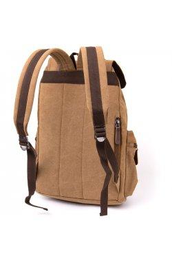 Рюкзак туристический текстильный унисекс Vintage 20610 Коричневый