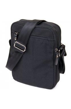Универсальная текстильная мужская сумка на два отделения Vintage 20660 Черная