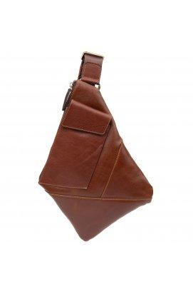 Стильная кожаная мужская сумка через плечо GRANDE PELLE11358 Коричневый