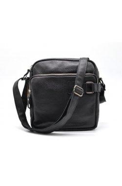 """Кожаная сумка крос-боди, мессенджер из кожи """"Флотар"""" FA-6012-4lx бренда TARWA Черный"""