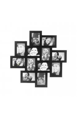 Фоторамка Present Time на 12 фото 10 х 15 см, черная - wos9177