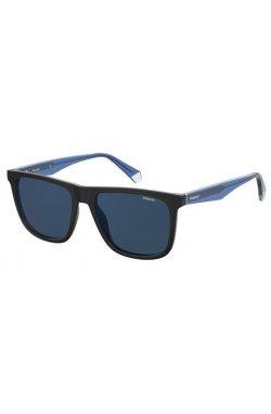 Солнцезащитные очки Polaroid PLD2102/S/X-0VK-C3 - квадратные, прямоугольные, Цвет линз - синий