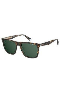 Солнцезащитные очки Polaroid PLD2102/S/X-KRZ-UC - квадратные, прямоугольные, Цвет линз - зеленый