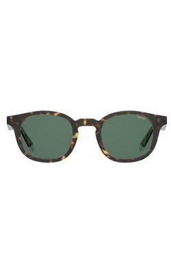 Солнцезащитные очки Polaroid PLD2103/S/X-KRZ-UC - круглые, овальные, Цвет линз - зеленый