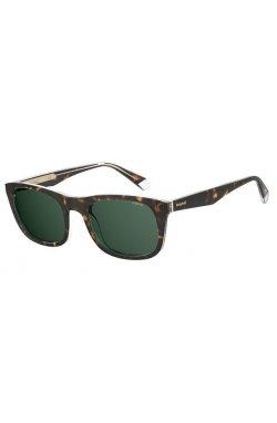 Солнцезащитные очки Polaroid PLD2104/S/X-KRZ-UC - квадратные, прямоугольные, Цвет линз - зеленый