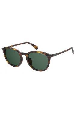 Солнцезащитные очки Polaroid PLD2115/F/S-086-UC - квадратные, круглые, Цвет линз - зеленый