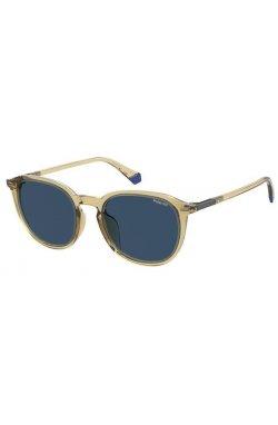 Солнцезащитные очки Polaroid PLD2115/F/S-HAM-C3 - квадратные, круглые, Цвет линз - синий;серый